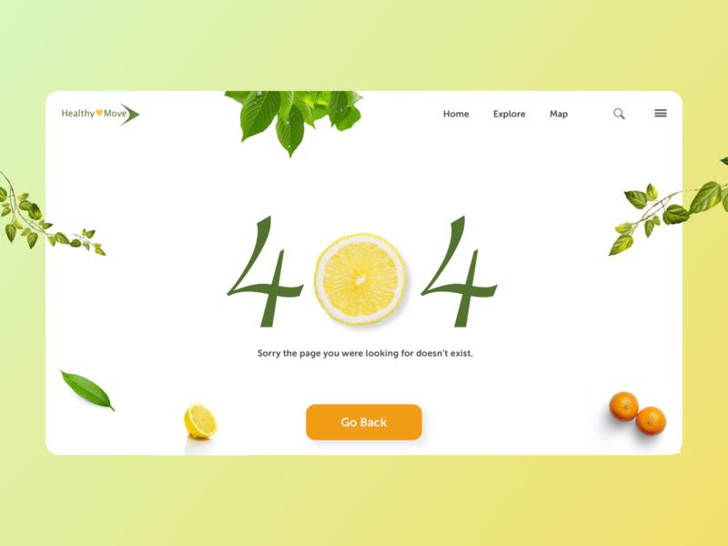 404 Page gradient fruit clean minimal ui challenge 008 health app 404 page dailyui daily ui challenge ui design ui challenge