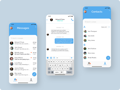 Daily UI 013 - Direct Messaging App ux design interface design mobile ui mobile app uiux direct messaging messenger app daily ui 013 dailyui daily ui challenge ui design ui challenge