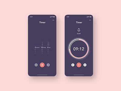 Daily UI 014 - Countdown Timer mobile app mobile ui minimal pink blur countdown timer daily ui 014 daily ui challenge 014 uiux dailyui daily ui challenge ui design ui challenge
