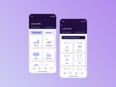Daily UI 021 - Monitoring Dashboard ios app clean ui interface design mobile app smart app smarthome uiux monitoring dashboard mobile ui dailyui 021 daily ui daily ui challenge ui design ui challenge