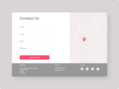 Daily UI 028 - Contact Us ui ux map contact form contact us daily ui 028 028 interface design minimal clean web ui dailyui uiux daily ui daily ui challenge ui design ui challenge