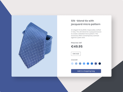 Daily UI 033 -  Customize product shapes custom daily ui challenge 033 tie checkout product design web ui interface design clean dailyui033 dailyui daily ui challenge ui design ui challenge product blues customize product customize