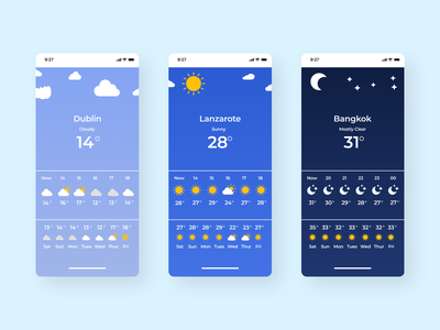 Daily UI 037 - Weather ui037 product design weather forecast 037 weather weather app mobile app mobile ui uiux dailyui daily ui challenge ui design ui challenge