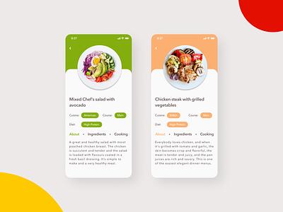Daily UI 040 - Recipe daily ui 040 ui 040 daily ui daily ui challenge ui design ui challenge 040 uidaily mobile ui mobile app recipe app food recipe