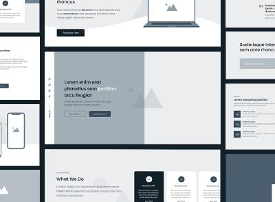 Wireframe Kit Project design corporate website flat bootstrap 4 web web design mockups ux ui