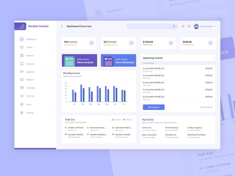 UI Design Dashboard Invoices Management app task io task management web website mockups user interface webdesign project management crm analytics dashboard template ux dashboard ui invoice admin dashboard admin