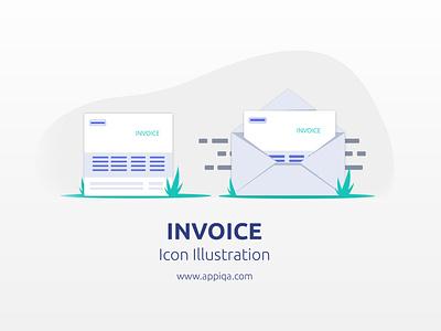 Invoice Icon Illustration - Free SVG inspiration illustration icon app bootstrap 4 web mockups website web design ui app design android app ios design ios app