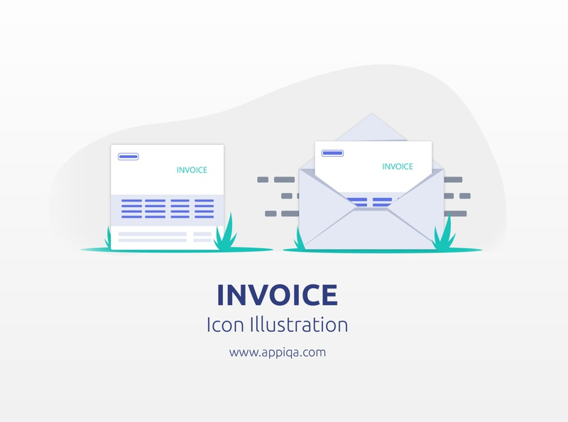 Invoice Icon Illustration - Free SVG inspiration illustration icon app bootstrap 4 web mockups website web design ui app design android app ios design ios app