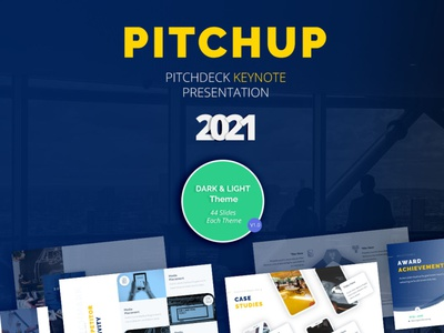Pitchup Keynote Template timeline powerpoint infographic portfolio funnel asset digital plan marketing plan digital startup marketing investor pitch deck business deck pitching annual analysis