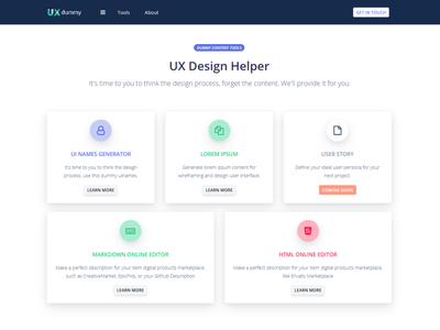 UX Dummy Update figma sketch adobexd icon app android app design web web design web design and development bootstrap 4 ui website ux uinames