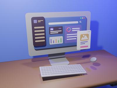 Exploring Dashboard UI Assets adobe xd design bootstrap 4 mockups web website ux ui web design user interface 3d ui kit 3d illustration
