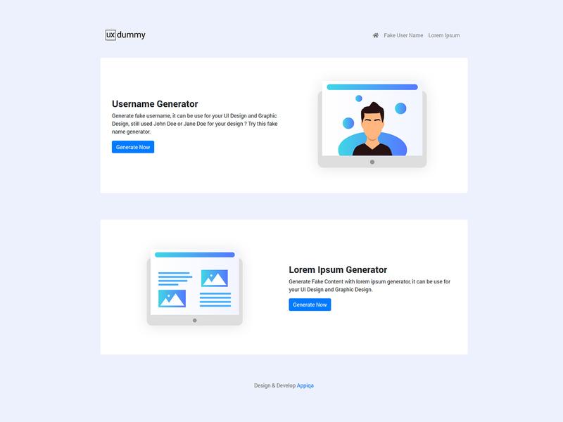 UX Dummy - Web For Dummy Content and Names mockups type minimal flat website web design ux ui