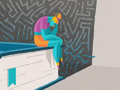 My Frustrations illustrated frustration book minimal feelings mood depression shadow maze vector digital 2d conceptual art editorial illustration adobeillustrators illustration