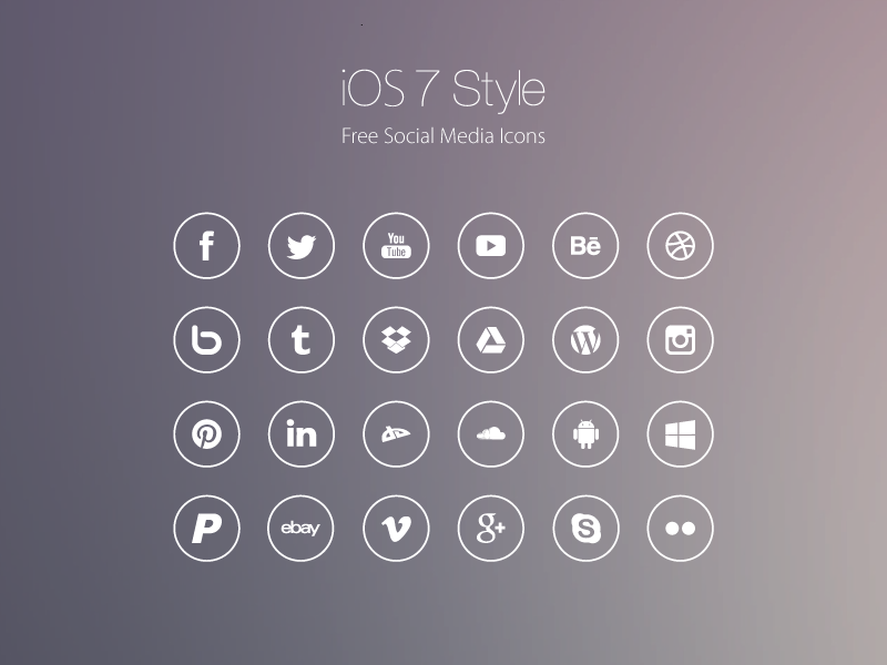 Freebie ios7 style social media icons by roberts ozolins dribbble ios7 style icons for dribbble 01 01 altavistaventures Choice Image