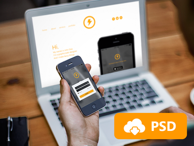 Responsive Mockup Templates / Free PSD ui app iphone free giveaway user interface freebie psd template download mockup psddd