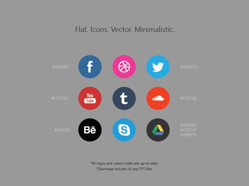 Free Social Media Icons / AI+EPS glyphs simple vector freebie psddd psd icon icons free