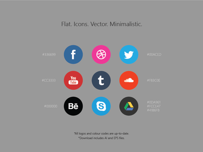 Free Social Media Icons / AI+EPS glyphs simple vector freebie psddd psd icon icons free