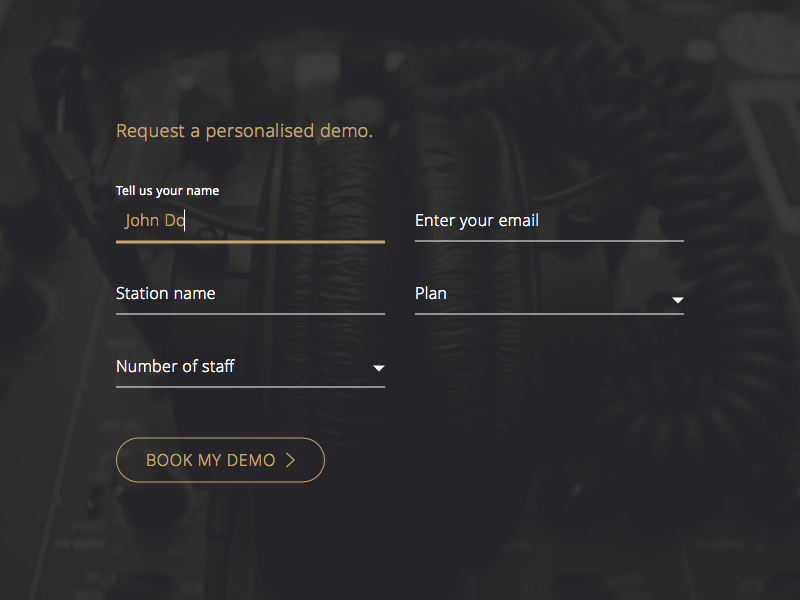 Request a personalised demo