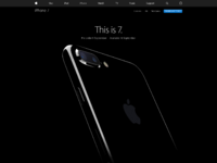 Apple iphone 7 landing page
