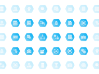 Backend Services Icon Set