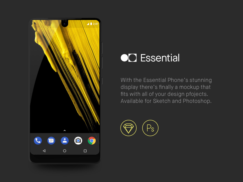 Download Freebie: Essential Phone Mockup
