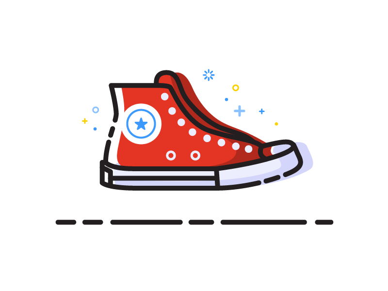 Converse Chuck Taylor by Sylvain Drolet | Dribbble | Dribbble