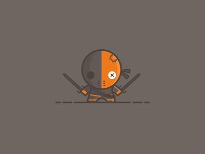 Deathstroke - Voodoo Doll Series - DC Universe justice league ninja orange illustration vector voodoo batman suicide squad slade wilson deathstroke dc dc comics