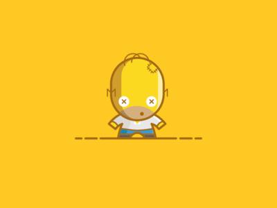 Homer J. Simpson - Voodoo Dolls Series - The Simpsons Saga yellow donut illustration vector doll voodoo doh simpsons the simpsons homer simpson homer