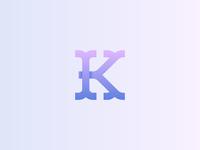 K - Redaction Monogram
