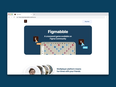 Figmabble Site branding layout web web design website