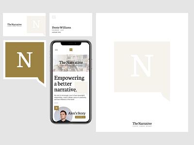 The Narrative design type web branding