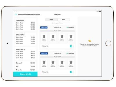 Checkout Improvements app ipad product design ui
