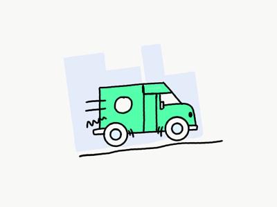 Laundry Truck ipad illy illustration