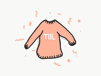 Collegiate Sweater ipad illy illustration