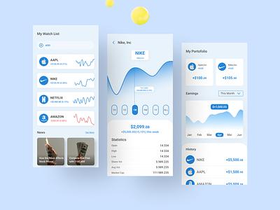Stocks App stock app stock market ux design ui design