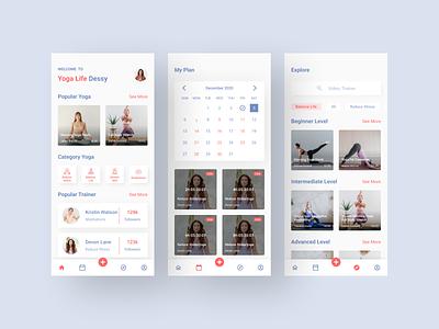 Yoga App uiuxdesign yoga app yoga clean ui uiux ux ui ux design ui design