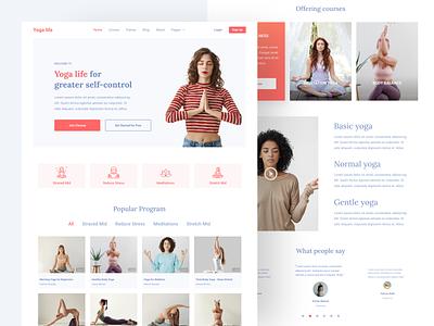 Yoga Landing Page yoga website yoga landing page design uiux ux ui ux design ui design