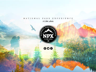 NPX Identity branding identity logos photo montage collage national parks nature