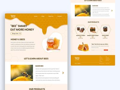 Honey Shop Concept App shop honeybee figmadesign