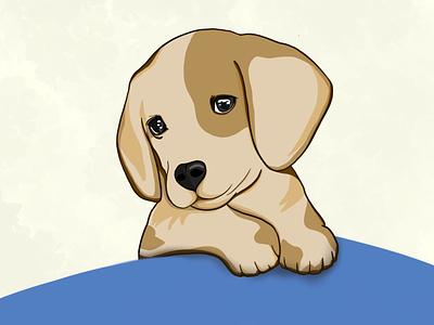 Cute puppy cute art art ipadprocreate color digitalart light shadow drawing digital ipadpro procreate illustration little dog cute puppy