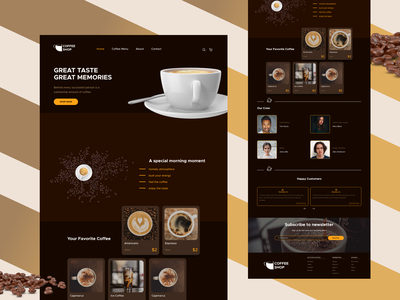 Coffee Shop Concept concept likeandfollow coffee bean lovecoffee figmadesign rewies order icons clean dark theme figma uidesign shop coffee cup coffee