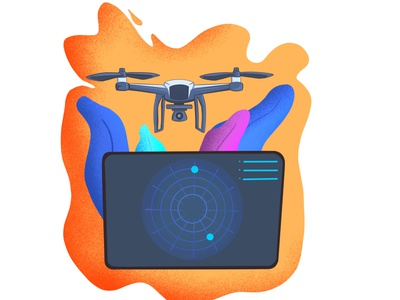 Come hone drone dronelovers colorful home drone color design ipadpro shadow light drawing procreate illustration