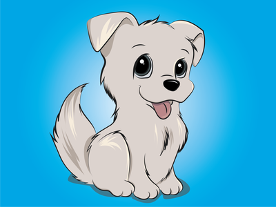 Chewy- The cute puppy friend cuteanimal puppy vectorart vector illustrator design ipadpro color shadow light drawing illustration