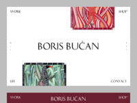 Boris bucan artist portfolio website by franmubrin