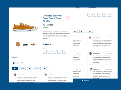 Shoe Product Detail product detail product detail page detail product template desain uxdesign website web ux user interface user experience uiux ui uidesign figma design