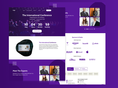 Event Countdown Landing Page landingpage page landing countdown event purple violet template desain website web ux user interface user experience uiux uidesign ui figma design