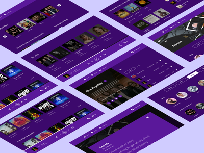 Music Streaming App music player music app app template singer song violet purple music ui design website web ux user interface user experience uiux ui uidesign figma design