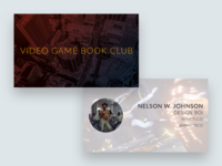 Video Game Book Club Business Card Idea