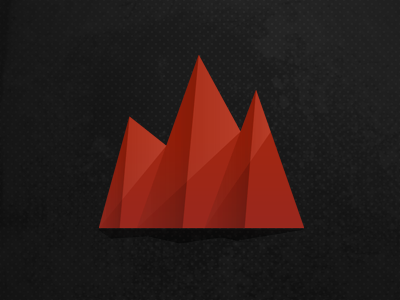The Dash logo mountains red statistics dash