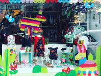 Mexican spring! Window display illustration